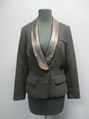 Clothing, Shoes & Accessories Suits & Suit Separates Milly Black Long Sleeves One Button Collar Solid Casual Blazer Sz 6 Ff5391 For Improving Blood Circulation
