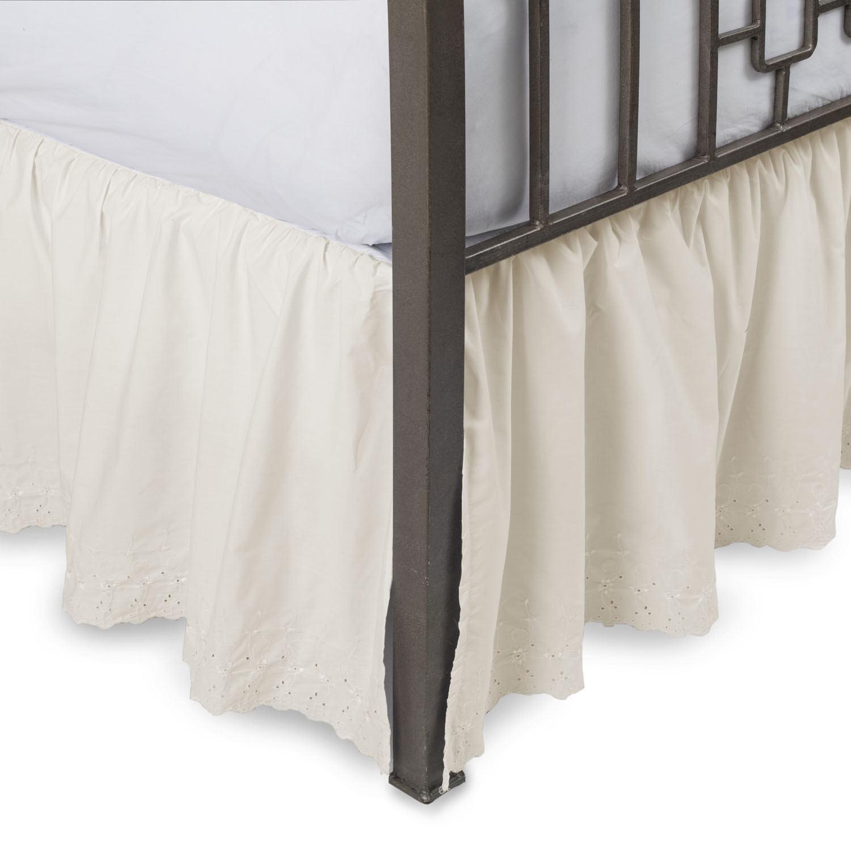 Fresh Ideas Eyelet Ruffled Bedskirt Ruffled Bedding With Twin Bone Ivory For Sale Online Ebay
