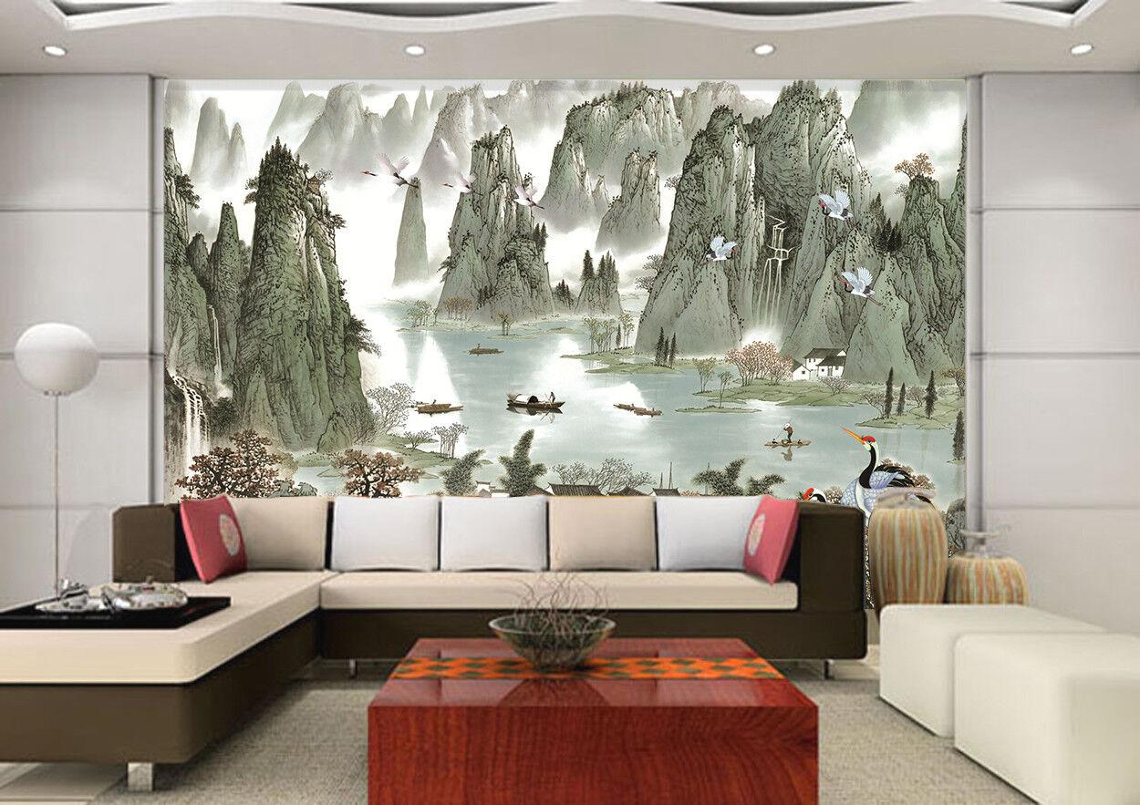 3D Hills Lake Animal 7 Wall Paper Murals Wall Print Wall Wallpaper Mural AU Kyra