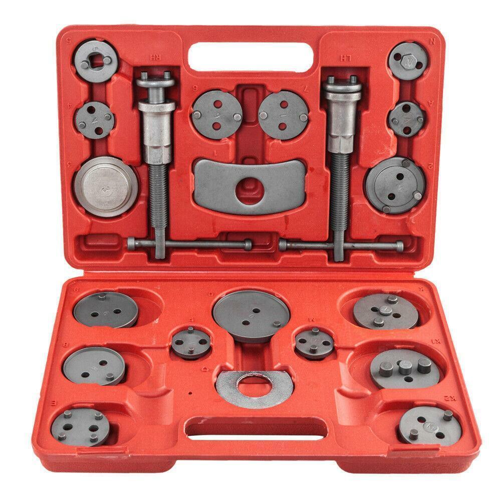 22pcs Auto Universal Disc Brake Caliper voiture Recule Pad compresseur /à piston Automobile Garage Repair Tool Kit avec /étui Outils de Menuiserie