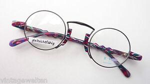 No-Limits-kreisrunde-Brillenfassung-Nickelbrille-rund-Metall-schwarz-bunt-sizeL
