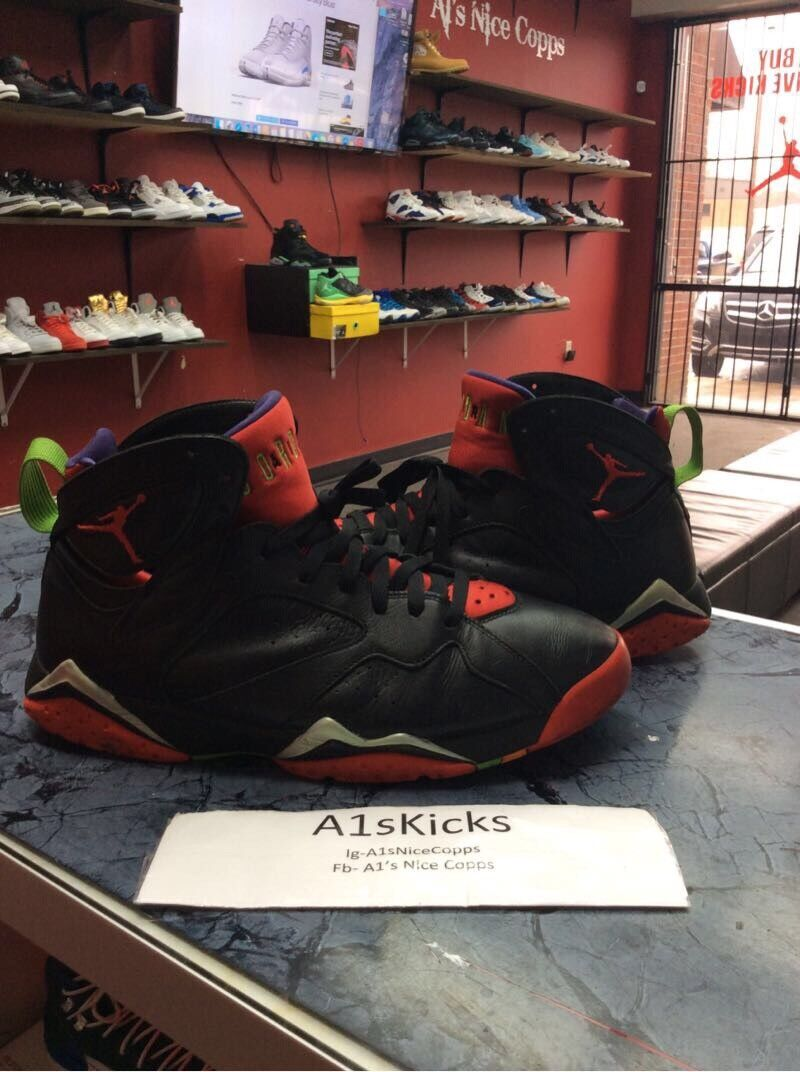 MEN'S AIR JORDAN AIR JORDAN 7 RETRO RETRO RETRO 304775-029  MARVIN THE MARTIAN  SIZE 10.5 983b5c