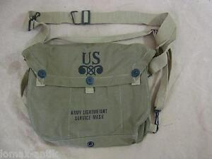US-WW2-ARMY-Service-Gas-Mask-Lightweight-bag-Tasche-Gasmaske-Gasmaskentasche