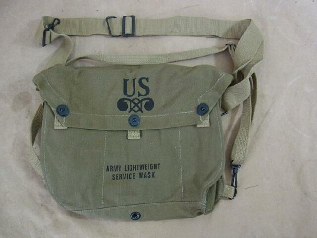 US WW2 ARMY Service Gas Mask Lightweight bag Tasche Gasmaske Gasmaskentasche