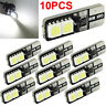 10pcs CANBUS ERROR FREE White LED T10 168 194 W5W Wedge 4 SMD 5050 Light bulb