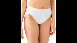 5 Pair  Bali Comfort Revolution Hi Cut Panties in WHITE #303J