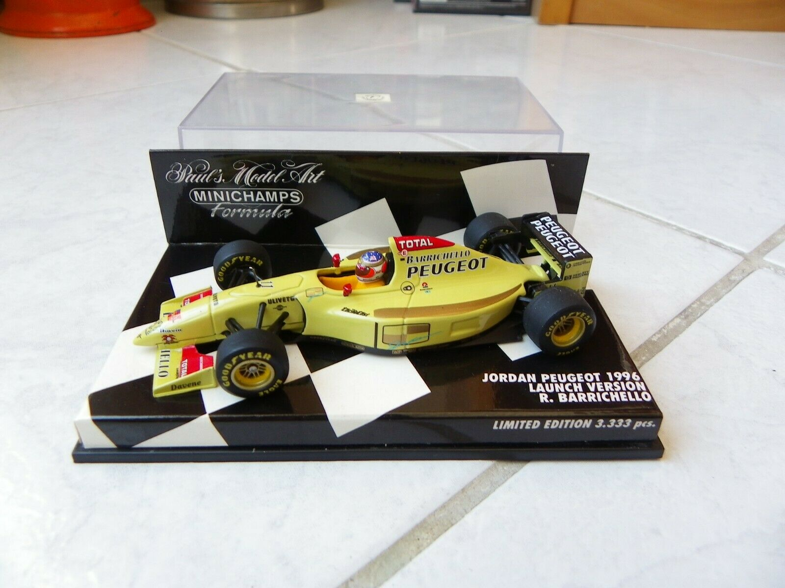 mejor marca Jordan Peugeot Launch Versión 1996 Rubens Barrichello  11 11 11 Minichamps 1 43 F1  venta al por mayor barato