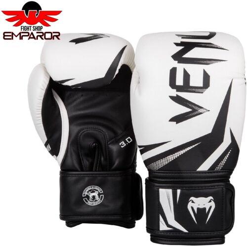 Venum Challenger 3.0 Boxhandschuhe Weiss//Schwarz Boxen Kickboxen MMA Handschuhe