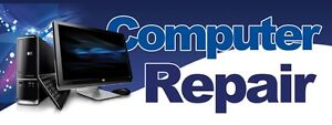 3ft x 8ft Computer Repair Vinyl Banner -Alt to Banner Flag 3'x8'  (153) -bw