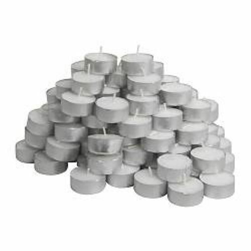 NEW UNSCENTED TEA LIGHT CANDLES  LOT OF 500