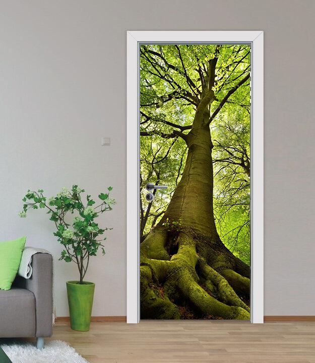 3D Baum Tür Wandmalerei Wandaufkleber Aufkleber AJ WALLPAPER DE Kyra