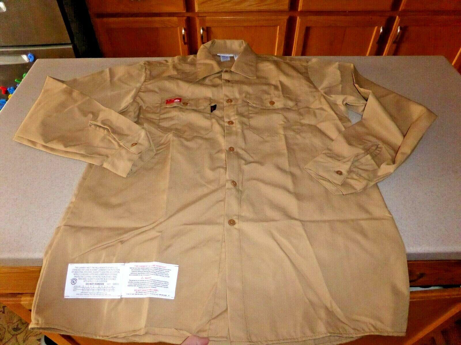 NWOT GK Services ARAMID Flame Resistant Predect Shirt GlenGuard FR NFPA 2112 L