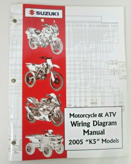 Suzuki Motorcycle  U0026 Atv Wiring Diagram Manual 2005 K5 Models 99923