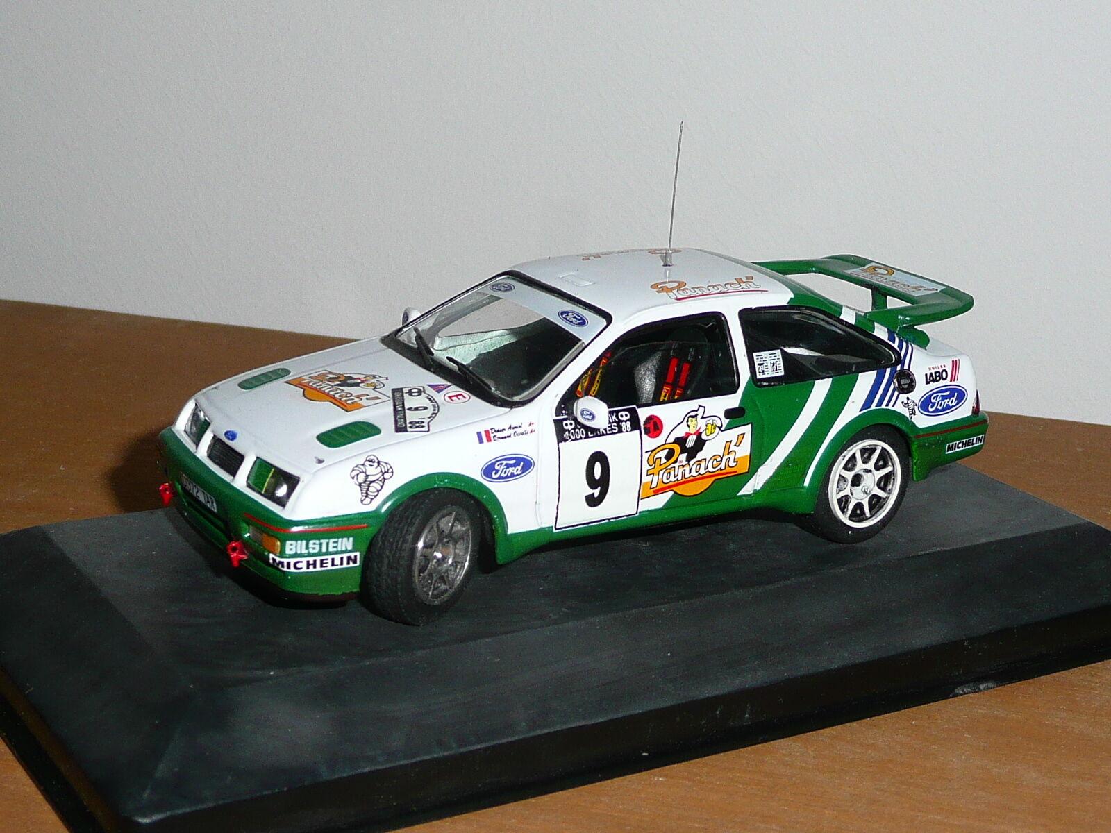 Unique MC43 1   43   FORD SIERRA COSWORTH - AURIOL PANACH' RALLYE 1000 LACS 1988