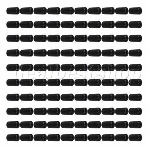 100x Soft Rubber Hose End Blanking Caps Screw Thread Guard Cover Black 12mm