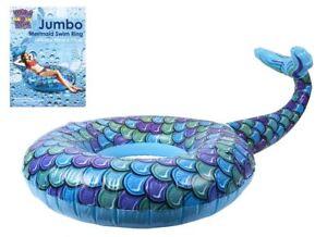 Details About Jumbo Sirena Natación Anillo Piscina Flotante Verano