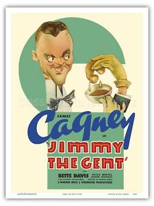 Jimmy The Gent vintage Movie advertising poster reproduction.