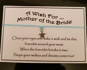 Mother Of The Bride Wish Bracelet Star Charm Wedding Gift