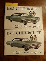 1965 Chevrolet Owners Manual