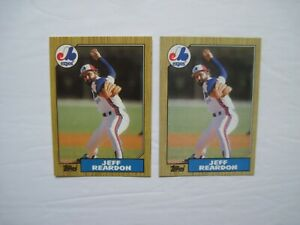 Details About Tiffany Topps Baseball Cards Regular Jeff Reardon 2 Ct Lot 1987 165 Scarce