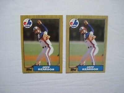 Tiffany Topps Baseball Cards Regular Jeff Reardon 2 Ct Lot 1987 165 Scarce Ebay