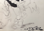 UDERZO-Dessin-original-signe-Asterix-boxant-un-Romain-Grand-format-30-x-50 miniature 4