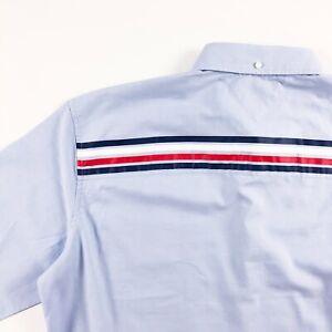Tommy-Hilfiger-Chemise-Homme-Leger-Oxford-Blue-Regular-Fit-Logo-Ruban-Imprime