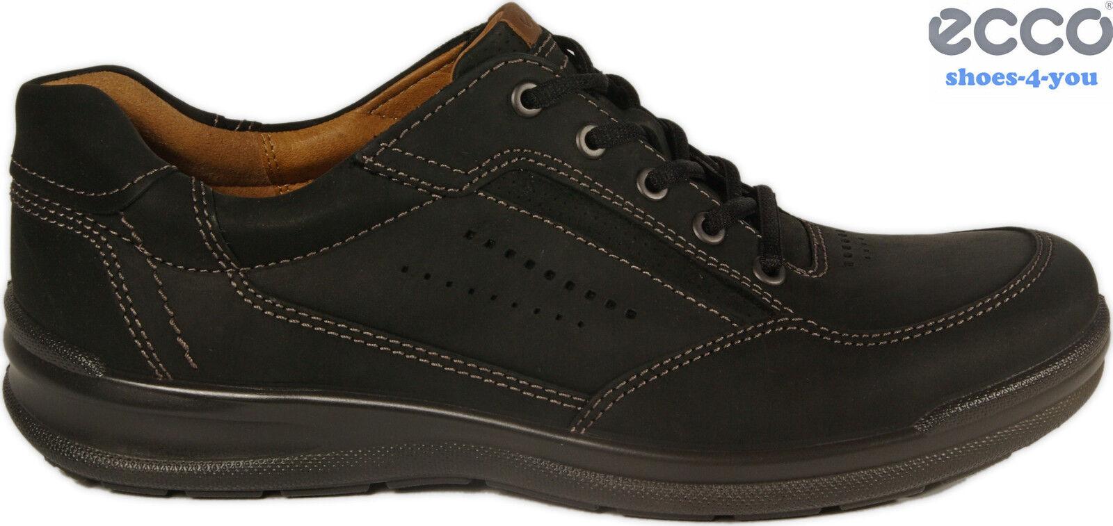ECCO Schuhe Halbschuhe Mod. REMOTE schwarz echt Leder Schnürschuhe NEU