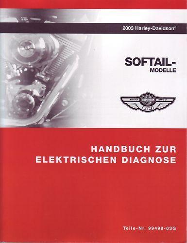 Harley Anleitung elektrische Diagnose 2003 Softail deutsch 99498-03g ...