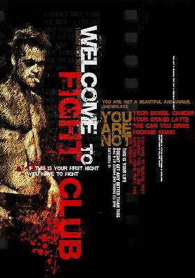 "25 Fight Club - 1999 American Film Brad Pitt Edward Norton 24""x34"" Poster"