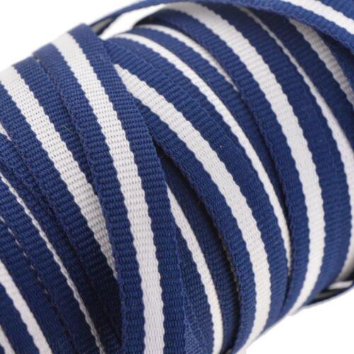 3m 3 metros Azul Marino Oscuro Azul Blanco 3 Cinta Ribete de Rayas Ribete De Artesanía Coser 10mm