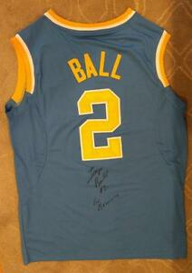Details about Lonzo Ball Signed UCLA Jersey Basketball NBA Draft Los Angeles Lakers Magic