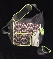 JJ Cole Collections System 180 Diaper Bag Black Damask