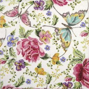 Papel 4x Servilletas Para Fiesta Decoupage Craft-Rosas /& Violetas