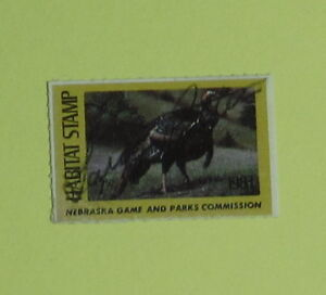 1983 Nebraska Game Parks Habitat Duck Hunting Stamp LicenseFree