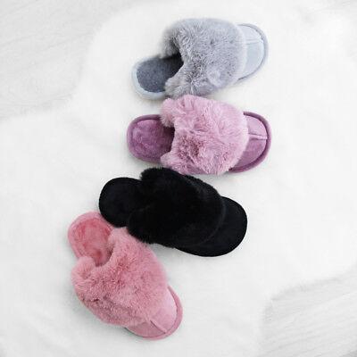Aspirante Donna Lusso Pelliccia Di Pecora Pantofole Antiscivolo Suola Misura