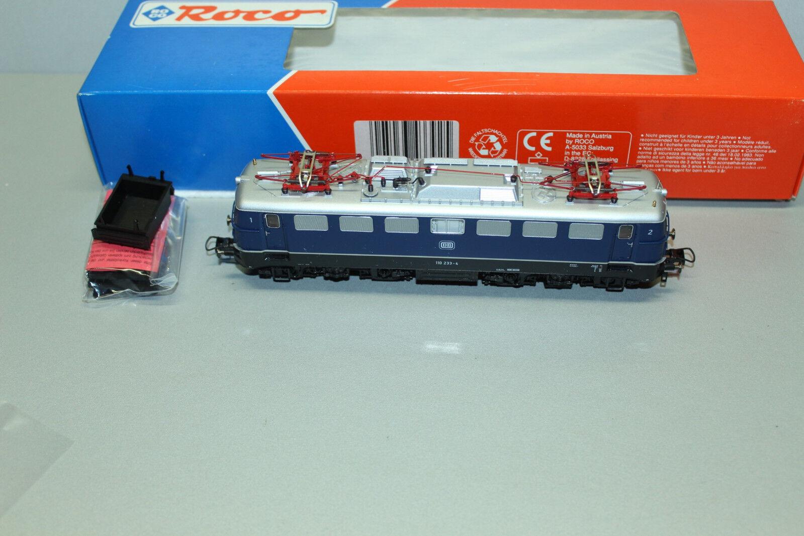 Roco 43392 43392 43392 Elok Baureihe 110 233-4 DB blau Spur H0 OVP  | Spaß  aefcc0