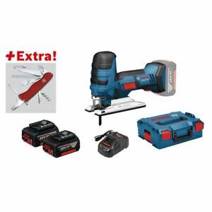 Bosch-Akku-Stichsaege-GST-18-V-LI-S-mit-2-x-5-0-Ah-Akku-Klappmesser-Victorinox