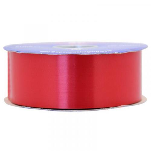 90m APAC Red Poly Ribbon 2inch//48mm Craft Gift Wedding Car Venue 6m