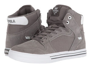 quality design aa1ef 8cc48 Image is loading NEW-NEW-SUPRA-VAIDER-CHARCOAL-WHITE-SURF-BMX-