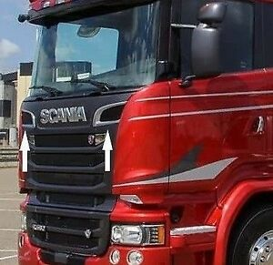 Scania 2009-2016 Grille Ventilation Frame Super Polished Stainless