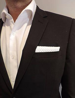 Glass or Carbon Fiber Pocket Square, Plain Weave, Suit Pocket Square