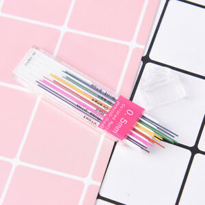 1box-0-5mm-Colored-Mechanical-Pencil-Refill-Lead-Erasable-Student-Stationary-PL