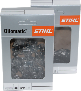 2 STIHL Sägeketten 3//8P-44E-1,3 Picco Micro 3 für Stihl MS230 30cm 3636 000 0044