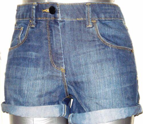 Niñas Señoras Pantalones Cortos De Mezclilla Pantalones Cortos de Moda Denim Talla 3-14 y también Reino Unido 6 8 10 12