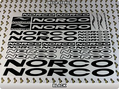 NORCO Stickers Decals  Bicycles Bikes Cycles Frames Fork Mountain MTB BMX 55T