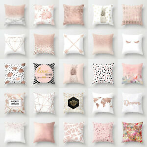 Marble-Rose-Gold-pink-throw-pillow-Case-Covers-sofa-car-cushion-Home-Decor