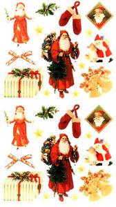 Vintage Victorian Santa Stickers  - Set of 2 - Frances Meyer - Cynthia Hart