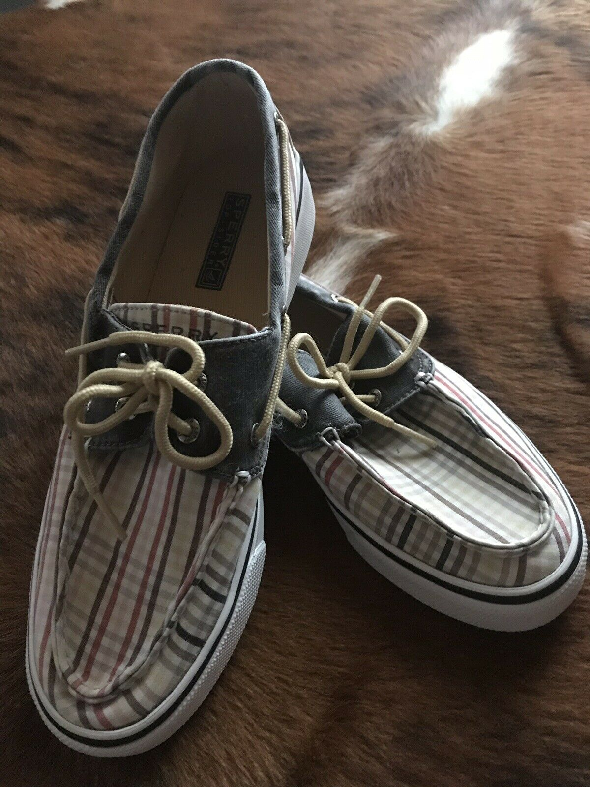 Sperry Plaid Top Sider EUC Size 9 Women