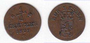Cu-1-4-Kreuer-1827-fuer-Oberhessen-Hanau-Fulda-Hessen-Kassel-AKS-38-Jg-25